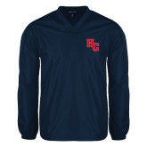 V Neck Navy Raglan Windshirt-HC