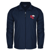 Full Zip Navy Wind Jacket-HC w/Terrier Head