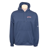 Under Armour Navy Performance Sweats Team Hoodie-Arched Hiram College