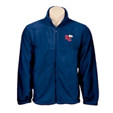 Fleece Full Zip Navy Jacket-HC w/Terrier Head