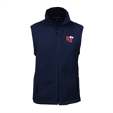 Fleece Full Zip Navy Vest-HC w/Terrier Head
