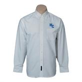 Mens White Oxford Long Sleeve Shirt-HC
