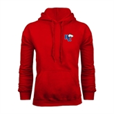 Red Fleece Hoodie-HC w/Terrier Head