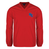 V Neck Red Raglan Windshirt-HC