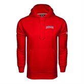 Under Armour Red Performance Sweats Team Hoodie-Arched Hiram College