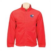 Fleece Full Zip Red Jacket-HC w/Terrier Head
