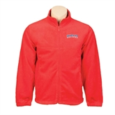 Fleece Full Zip Red Jacket-Arched Hiram College