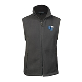 Fleece Full Zip Charcoal Vest-HC w/Terrier Head