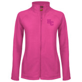 Ladies Fleece Full Zip Raspberry Jacket-HC