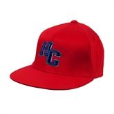 Red OttoFlex Flat Bill Pro Style Hat-HC