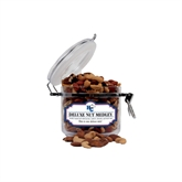 Deluxe Nut Medley Small Round Canister-HC w/Terrier Head