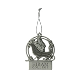 Pewter Sleigh Ornament-Hiram College Institutional Engraved
