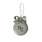 Silver Bulb Ornament-HC Engraved