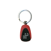 Red Teardrop Key Holder-HC Engraved