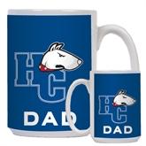 Dad Full Color White Mug 15oz-HC w/Terrier Head