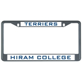 Metal License Plate Frame in Black-Hiram Terriers