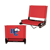 Stadium Chair Red-HC w/Terrier Head