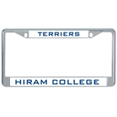 Metal License Plate Frame in Chrome-Hiram Terriers