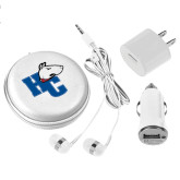 3 in 1 White Audio Travel Kit-HC w/Terrier Head