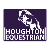 Small Decal-Houghton College Equestrian Horse Head, 6 inches wide
