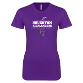 Next Level Ladies SoftStyle Junior Fitted Purple Tee-Cross Country Design