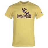 Champion Vegas Gold T Shirt-Houghton Equestrian Jumping Horse