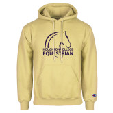 Champion Vegas Gold Fleece Hoodie-Houghton College Equestrian Horse Head