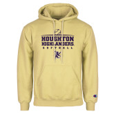 Champion Vegas Gold Fleece Hoodie-Softball Design