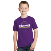 Youth Purple T Shirt-Volleyball Design