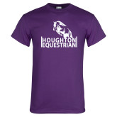 Purple T Shirt-Houghton Equestrian Jumping Horse