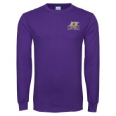 Purple Long Sleeve T Shirt-Primary Mark