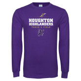 Purple Long Sleeve T Shirt-Track and Field Design 1