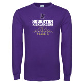 Purple Long Sleeve T Shirt-Track and Field Design 2