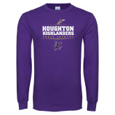Purple Long Sleeve T Shirt-Cross Country Design