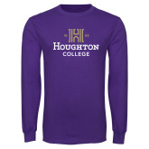 Purple Long Sleeve T Shirt-Institutional Mark