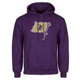 Purple Fleece Hoodie-Flag Mark