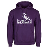 Purple Fleece Hoodie-Houghton Equestrian Jumping Horse