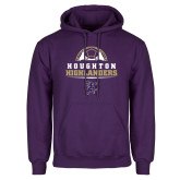Purple Fleece Hoodie-Soccer Design 2