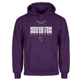 Purple Fleece Hoodie-Lacross Design 1