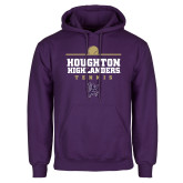 Purple Fleece Hoodie-Tennis Design