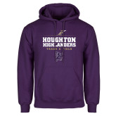 Purple Fleece Hoodie-Track and Field Design 1