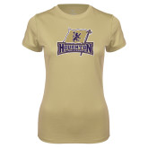 Ladies Syntrel Performance Vegas Gold Tee-Primary Mark