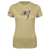 Ladies Syntrel Performance Vegas Gold Tee-Flag Mark
