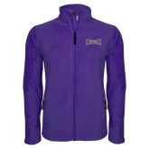 Fleece Full Zip Purple Jacket-Houghton Highlanders