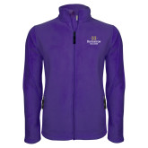 Fleece Full Zip Purple Jacket-Institutional Mark