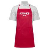 Full Length Red Apron-Hawks Mom