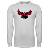 White Long Sleeve T Shirt-Hawk Logo