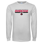 White Long Sleeve T Shirt-HawkYeah