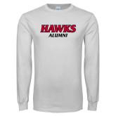 White Long Sleeve T Shirt-Hawks Alumni