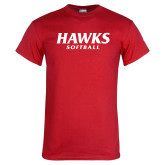 Red T Shirt-Hawks Softball